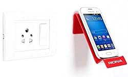 Riona Bathroom/Kitchen Wall Mobile Holder/Stand - MobiHold A7S Red MH-A7S-R