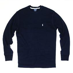 Polo Ralph Lauren Men\'s Big and Tall Crew Neck Long Seeve T-shirt Thermal Shirt (4XLT (Tall), Cruise Navy)