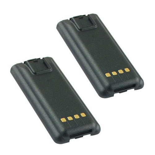 Hitech - 2 Pack of ACC-200 / ACC-200HC Replacement Batteries for Maxon / Midland SL55+, SP300 Series, SP310, SP320, SP330, and SP340 2-Way Radios (Ni-MH, 1950mAh)