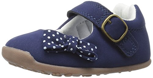 Carter's Every Step Girls' Sarah Stage 3 Mary Jane, Navy, 4 M US Toddler (Baby Girl Navy Blue Shoes compare prices)