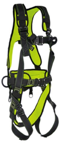 Guardian Fall Protection 11032 XL Cyclone Construction Harness with Quick Connect Chest Buckle, QC Leg Buckles and Combination Waist (Fall Harness Xl compare prices)
