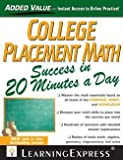 img - for Catherine V. Jeremko: College Placement Math in 20 Minutes a Day (Paperback); 2013 Edition book / textbook / text book