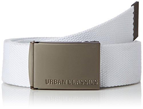 Urban Classics - Gürtel, Cintura Uomo, Bianco (White), Taglia unica (Taglia Produttore: One Size)