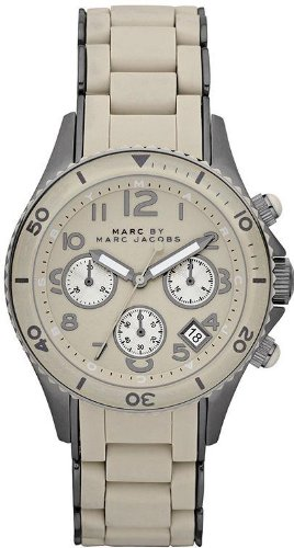 MARC JACOBS MARC BY RO SHELL SILICONE HOMME 40MM CHRONOGRAPHE MONTRE MBM2591