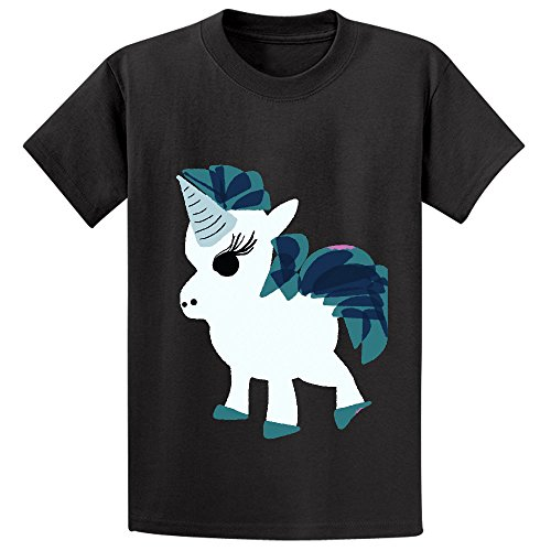 Chas U Is For Unicorn Cartoon Unisex Crew Neck Graphic Tee Black (How To Make A Holster compare prices)