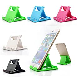 """SDOâ""""¢ Universal Portable Foldable Holder Fold Stand for Apple iPad iPhone Samsung Sony HTC Xiaomi LeTV Huawei LG Lenovo Oneplus Moto and All Mobile Phones - Blue"""
