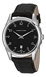 Hamilton Men's H38511733 Jazzmaster Thinline Black Dial Watch by Hamilton