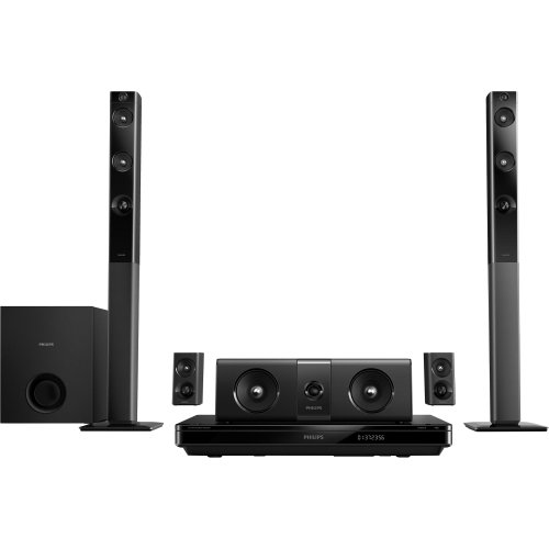 Brand New Philips Electronics - Philips Htb5544D 5.1 3D Home Theater System - 1000 W Rms - Blu-Ray Disc Player - Dolby Truehd, Dts Hd, Dts-Hd Master Audio Essential, Dolby Pro Logic Ii, Dolby Digital, Dolby Digital Plus, Dts Digital Surround, Dts-Hd High
