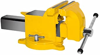 "Yost Vises 908-HV 8"" High-Visibility All Steel Utility Combination Pipe and Bench Vise with 360-Degree Swivel Base"
