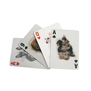 Kikkerland 3-D Lenticular Dog Pokersize Playing Cards