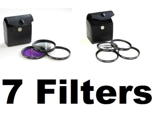 7pc 58mm Filter Kit - Four Macro Filters, UV, FLD and Polarizing Filters for for Canon Rebel XSi XT T1i or ANY 58mm Camera Lens!