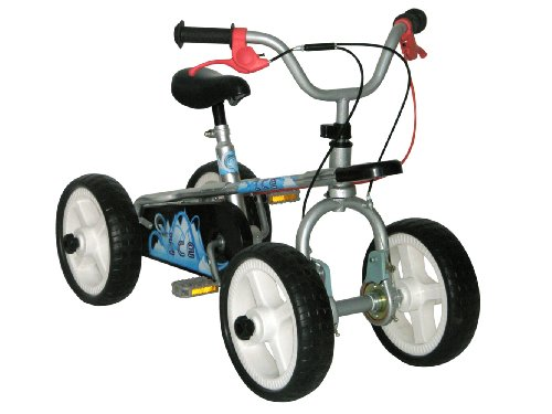 Quadrabyke Ice Three Bikes in One - Silver, 12-Inch