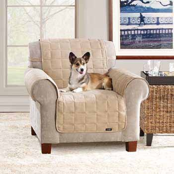 Sure Fit Waterproof/Soft Suede Chair Throw-Taupe