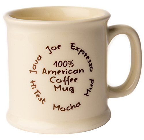 American Mug Pottery 14 oz. Ceramic Coffee Mug, Pack of 2, Made in USA 100%