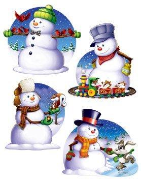 Snowman Cutouts Cutouts 3 (4 per package) - 1