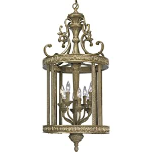 Progress Lighting P3673 62 Eight Light Two Tier Foyer Fixture With Decorative