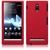 Red Soft Silicone Case For Sony Xperia P Lt22i + FREE Screen Protect