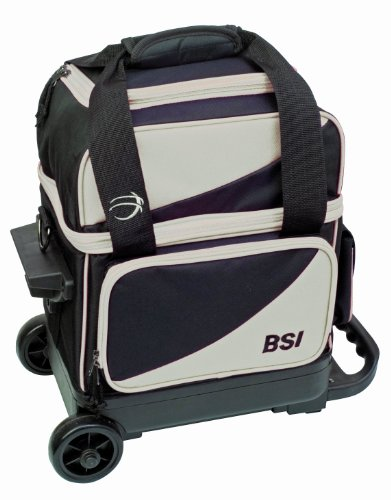 BSI Single Ball Roller Bowling Bag, Black/Grey