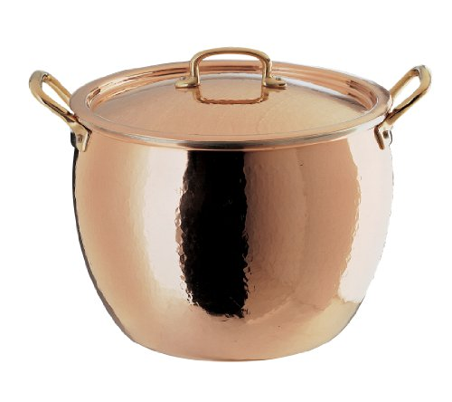 Ruffoni historia decor 7 1 2 quart copper stock pot with for Decoration quatre quart