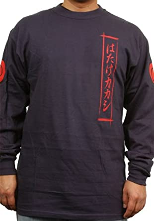 Naruto Long Sleeve Kanji Tee in Navy (Medium)