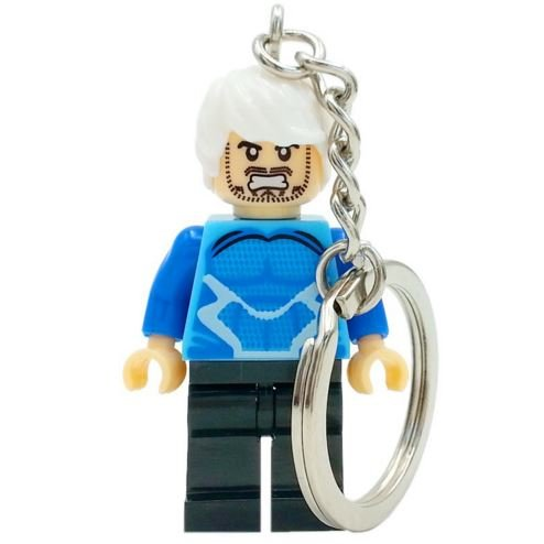[SingleSale ActionFigures Keychain [Mr.QuickSilver Mini Blocks] Educational Toys DIY Building Blocks] (Mr Gold Lego Costume)