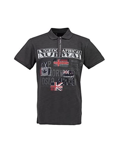 Geographical Norway Polo Gris Oscuro