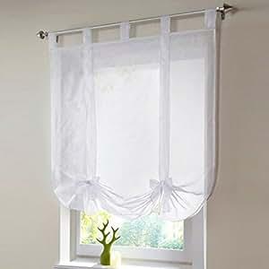 1pcs roman curtain with tape white voile roman for Voilage fenetre salon