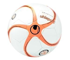 Uhlsport Kinder Futsalbälle Medusa Anteo 350 Lite Match, weiss/fluo-orange/schwarz, 4, 100150601