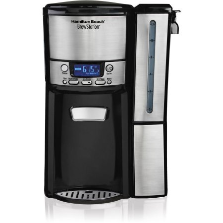12-Cup BrewStation Dispensing Coffee Maker with Removable Reservoir by Hamilton Beach, 47950, Silver/Black (Milton Carafe compare prices)