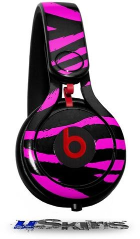 Pink Zebra Decal Style Skin (Fits Genuine Beats Mixr Headphones - Headphones Not Included)