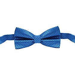 His Honour Bow Tie Satin Self Blue