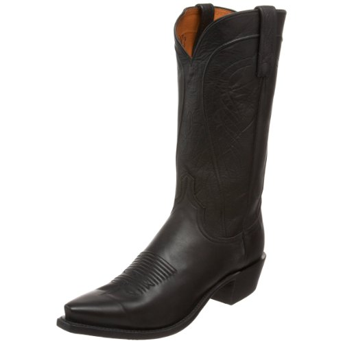 1883 by Lucchese Men's N1597.54 Western Boot,Black Burnished Ranch,6.5 D US