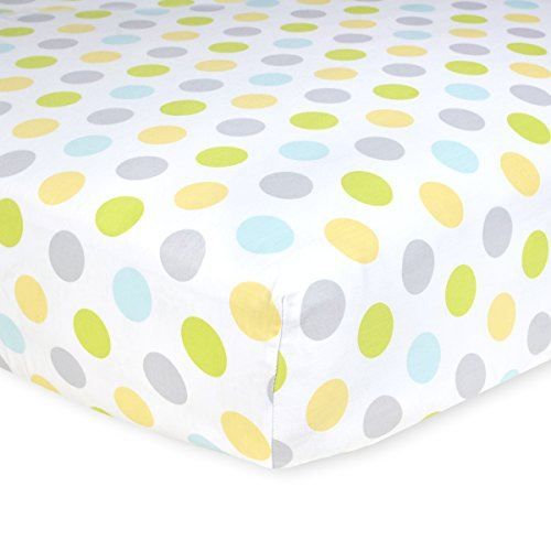 Carter's Cotton Fitted Crib Sheet, Neutral Dots - 1