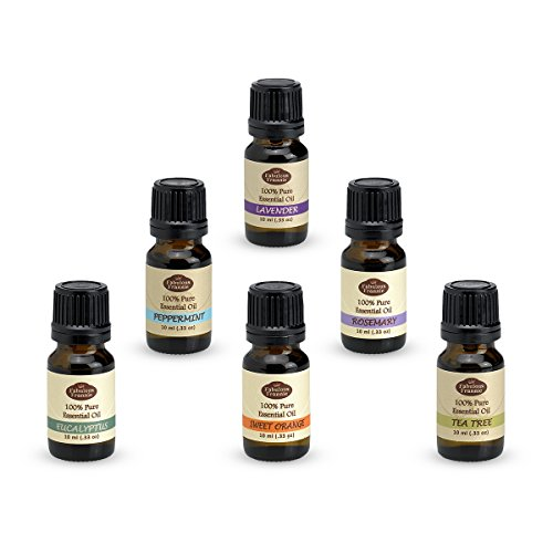 Fabulous Frannie Essential Oil Basic Sampler Set, 10-ml each, Set of 6