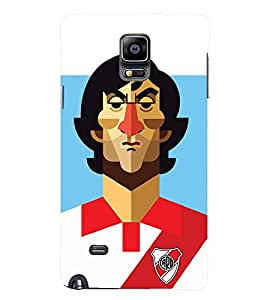 TOUCHNER (TN) Soccer Player 2 Back Case Cover for Samsung Galaxy Note 4 N910::Samsung Galaxy Note 4 Duos N9100