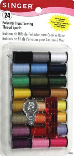 Review Singer Polyester Thread, Assorted Colors, 24 Spools