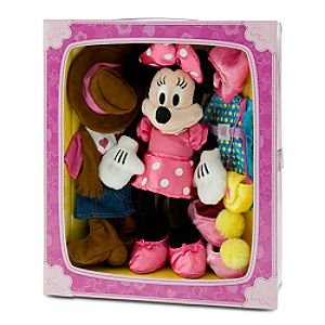 Amazon Com Disney Dress Up Minnie Mouse Plush Doll Set