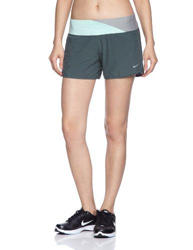 NIKE Damen kurze Laufhose 4 Zoll Rival Stretch Woven Shorts, Vintage Green/Reflective Silv, L, 520308