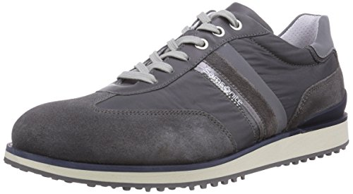 Samsonite Shoes MONTEVIDEO LOW 1603 SUEDE/FABRIC/RIFRANG DK.GREY/DK.GREY, Low-Top Sneaker uomo, Grigio (Grau (DK.GREY/DK.GREY)), 43