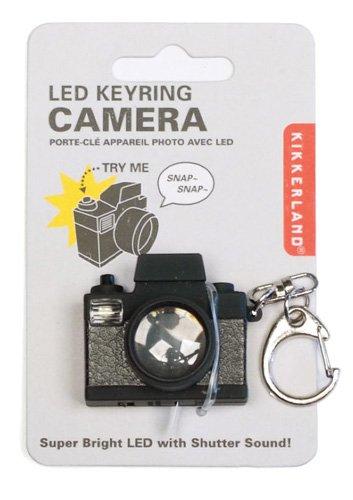 Kikkerland KRL15TC Camera LED Keychain with Sound
