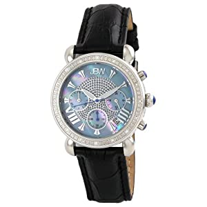 "JBW Women's JB-6210L-C ""Victory"" Blue Stainless Steel Leather Diamond Watch"