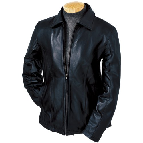 Ladie's Lamb Leather Coat, Color: Black, Size: Large