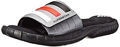 adidas Performance Men's Superstar 3G Slide Sandal, Core Black/Infrared/Running White, 5 M US