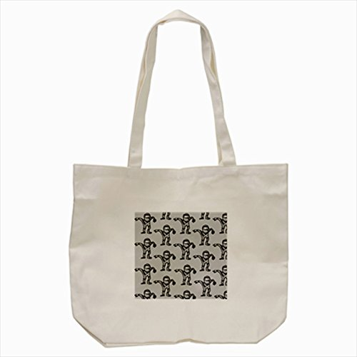 small black and white mummy ghost Tote Bag Cream color