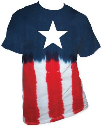 Marvel Captain America Star Tie-dye Men's T-shirt