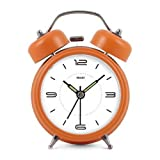Modern Fashion Lovely Colorful Metal Alarm Clock Orange 976