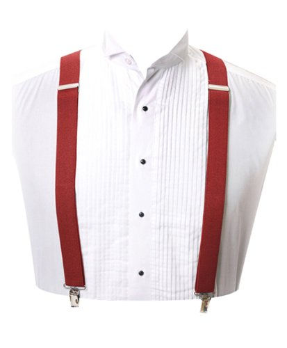Clip Suspender, Red