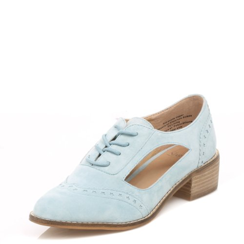 Shellys Donna blu Loviri pelle Shoes-UK 7