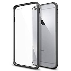 iPhone 6 Plus Case, Spigen® [AIR CUSHION] iPhone 6 Plus (5.5) Case Bumper **NEW** [Ultra Hybrid Series] [Gunmetal] Air Cushion Technology Corners Bumper Case with Clear Back Panel - ECO-Friendly Packaging - Bumper Case for iPhone 6 Plus (5.5) (2014) - Gunmetal (SGP10896)