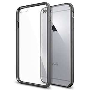 iPhone 6 Plus Case, Spigen® [Ultra Hybrid Series] AIR CUSHION [Gunmetal] Air Cushion Technology Corners Bumper Case with Clear Back Panel for iPhone 6 Plus (2014) - Gunmetal (SGP10896)